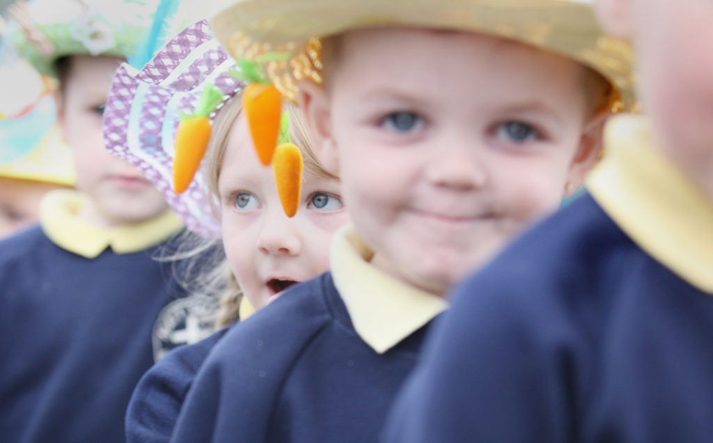 The Easter bonnet parade at Matt Talbot Nursery School