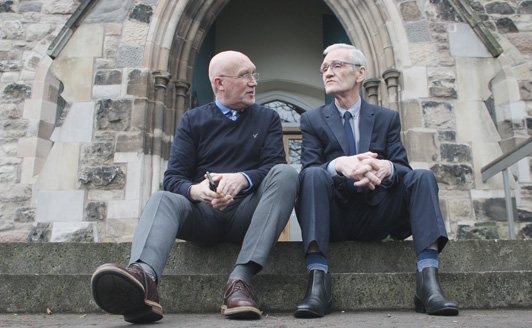 COOPERATION: Bill Shaw (174 Trust) and Liam Maskey (co-Founder of Intercomm), whose organisations enjoy a close partnership