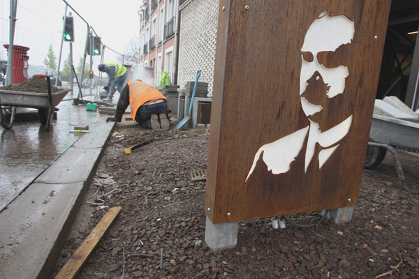 FINAL TOUCHES: The James Connolly Visitor Centre will be ready by this Friday