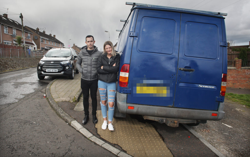 Parking: Michael Donnelly with Shannon Devine on Norglen Parade