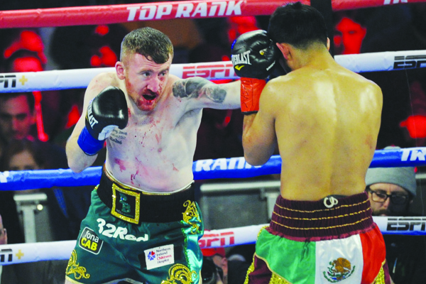 Paddy Barnes lost to Oscar Mojica by split decision on St Patrick's Day in New York