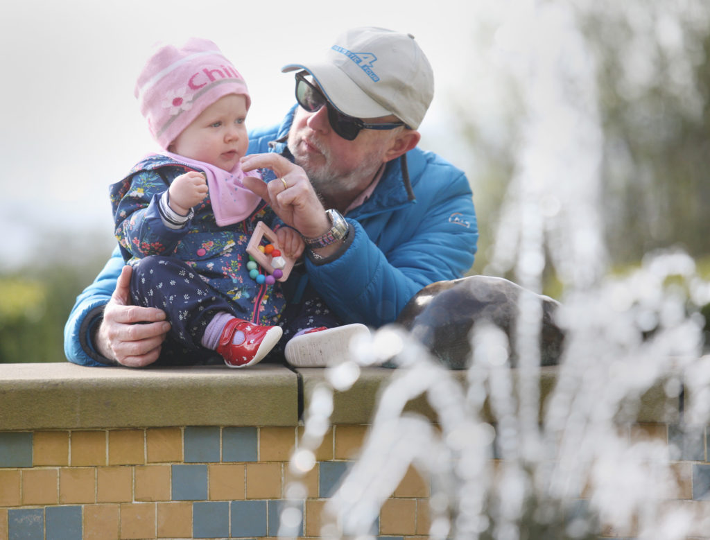 SPECIAL MOMENTS: Alan WIlkinson enjoys a day out at Belfast Castle with his granddaughter Daisy Wilkinson