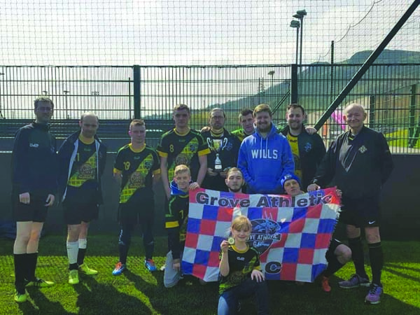 Grove Athletic DFC pictured after winning the IFA Disability Premiership for the second successive season