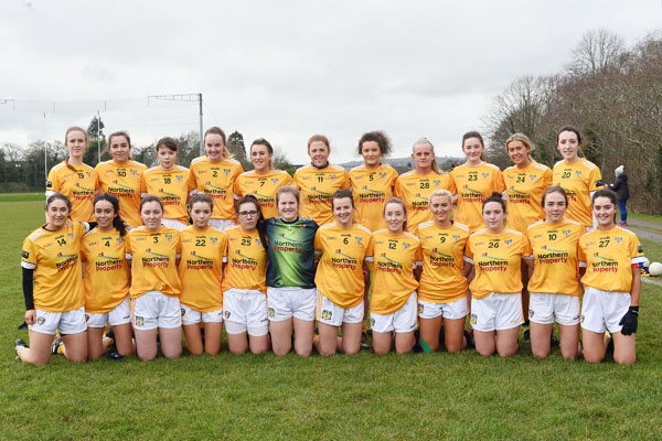 The Antrim ladies squad that will take on Fermanagh for the Division Four title this Saturday
