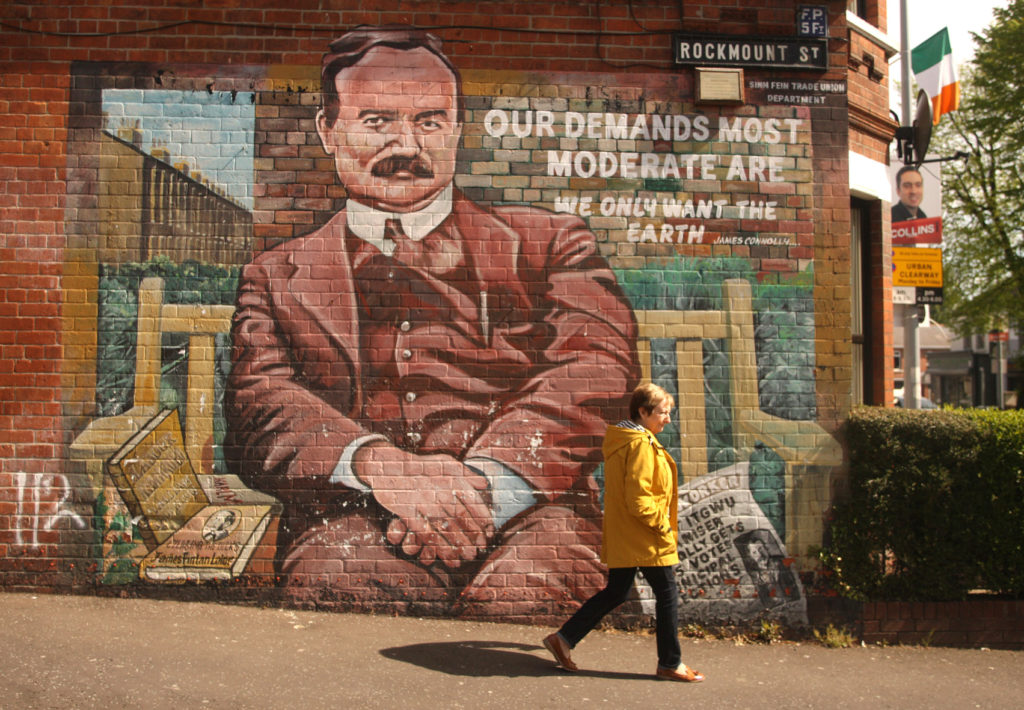 The James Connolly mural on Rockmount Street off the Falls Road