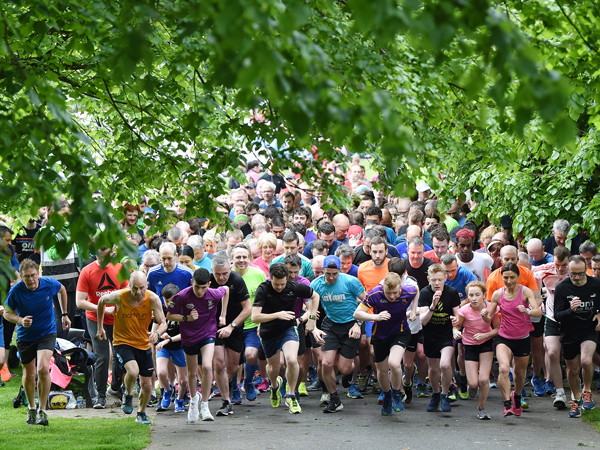 On your marks... best foot forward and elbows out as the Ormeau Park Run gets under way
