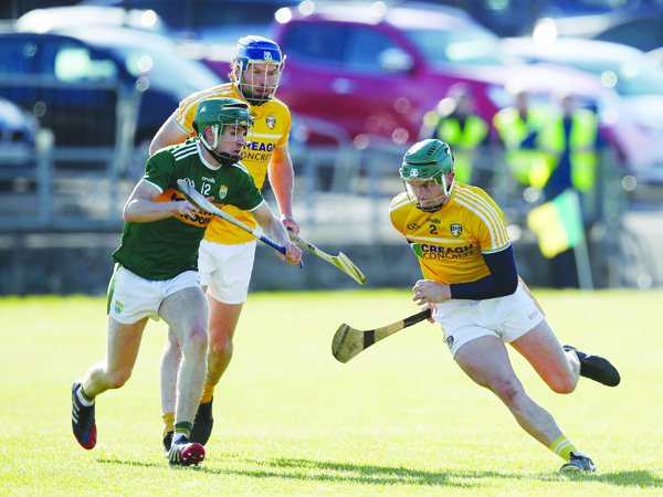 Stephen Rooney bursts out of defence during Saturday's game against Kerry