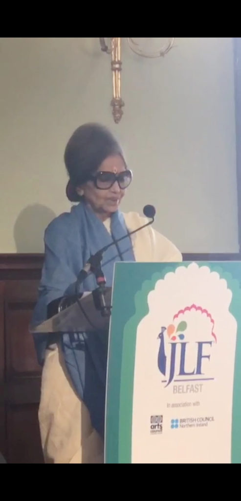 TRIBUTE: Tara Gandhi Bhattcharjee at the festival