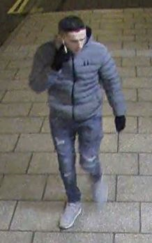 Police want to speak to this man in connection with criminal damage at two stops