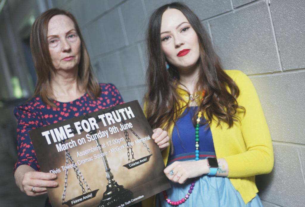 CALL: Mary-Kate Quinn, right, and Carmel Quinn are asking people to join the Time For Truth March