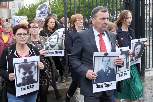 The Ballymurphy families were at Belfast Laganside Court for the continuation of the inquest. Press Eye -  Photograph by Declan Roughan