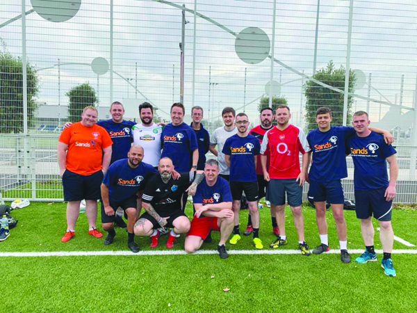 Sands United FCBelfast is a team of bereaved fathers and family members who will play their first game against Sands United FCMaiden City at Billy Neill Pitches in Dundonald this Saturday afternoon