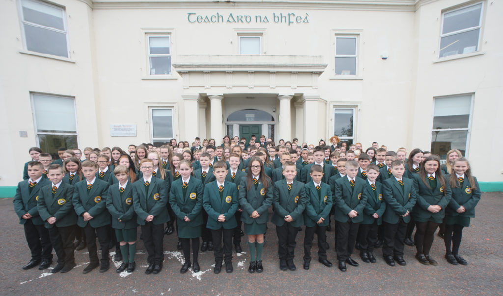 MOL AN ÓIGE: Over 150 first years start at Col‡áiste Feirste - the greatest number to date