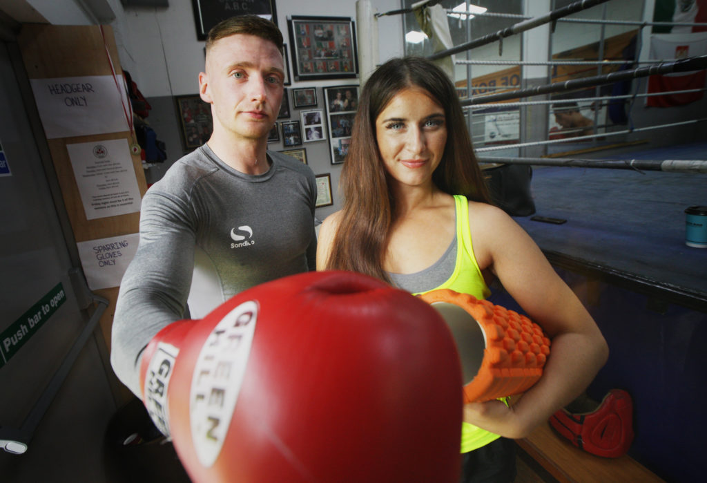 PACKING A PUNCH:Trainers Ryan Kelly and Lauren McCartney want to bring people together