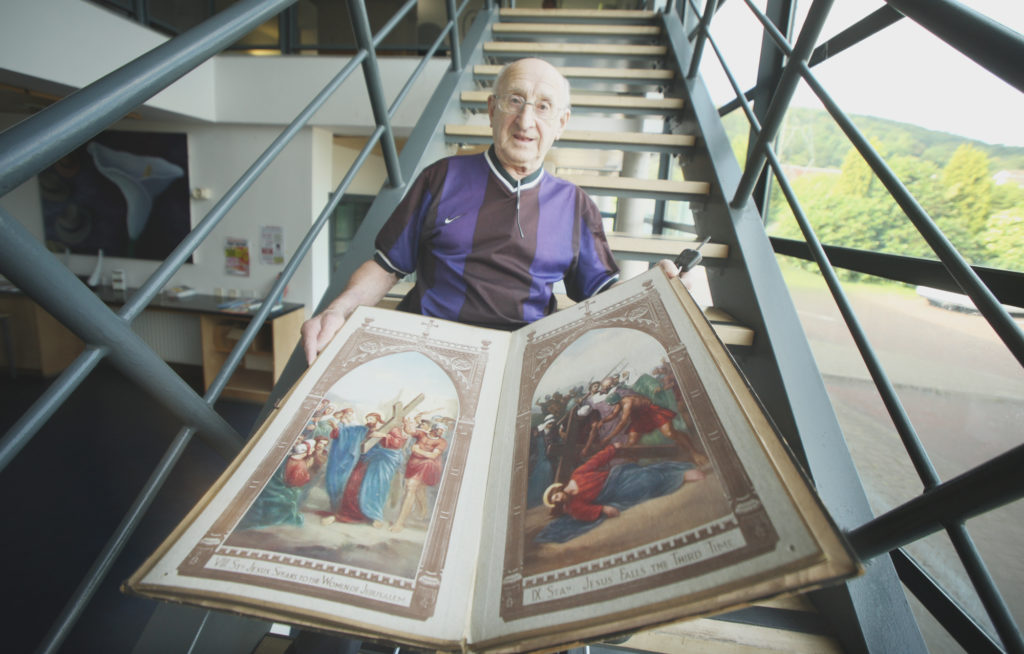 EYECATCHING: Fred Brady with ornate book of religious imagery