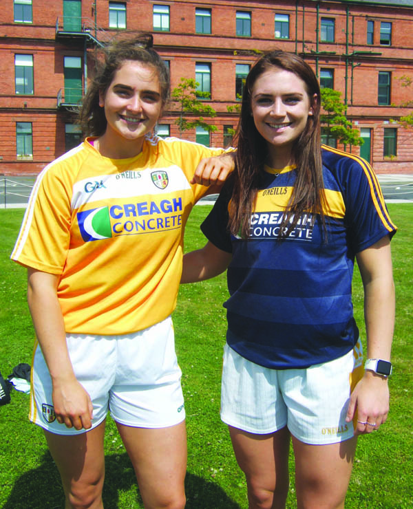 Michelle (left) and Emma Magee are hoping to reach Croke Park with Antrim by beating Louth in Clones