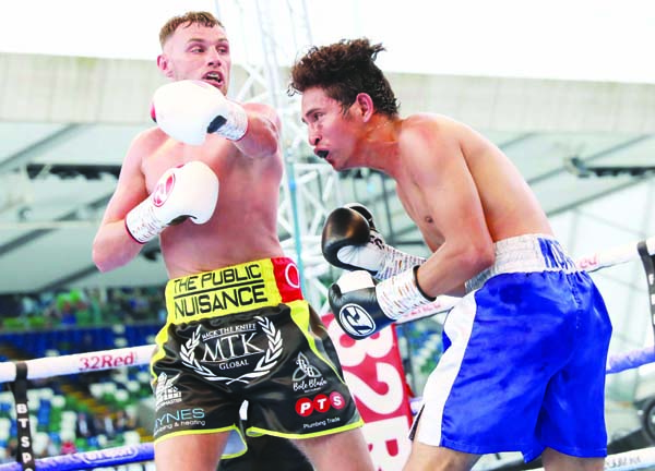 Sean McComb has racked up seven straight wins since making his debut at Windsor Park almost one year ago and will step up against dangerous Frenchman Renald Garrido on Saturday