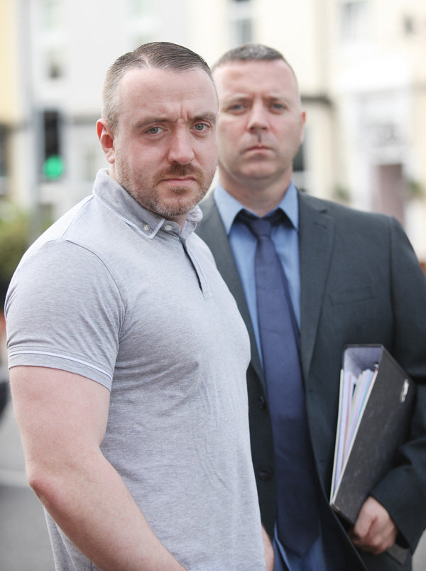 Vincent Kelly with his legal representative, Ciaran Cunningham