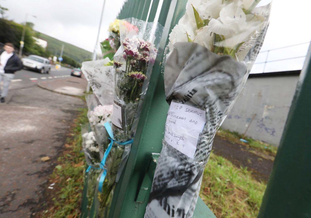 70-year-old Seamus Conlon died following a crash outside Belfast City Cemetery on Saturday