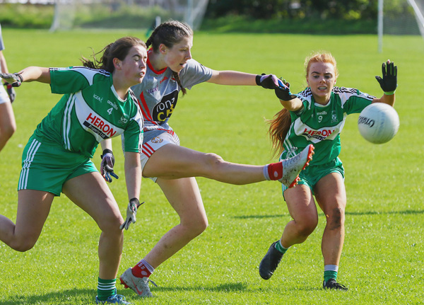 St Paul's ladies were defeated by Glenravel in the Antrim Intermediate Final at Sarsfields on Saturday