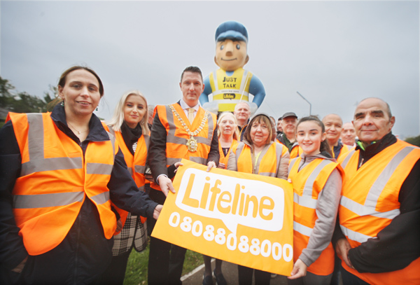 LIFELINE: Highlighting Suicide Awareness Day at the Colin Town Square with Lord Mayor John Finucane and West Belfast MLA Órlaithí Flynn
