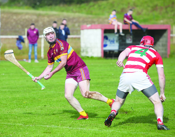 Gort na Mona's Padraig McHugh hailed the influence of team-mate Padraig McCaffrey, pictured in action in the Antrim JFC final against St Paul's, after the midfielder hit three points from play in their narrow win over St Eunan's of Letterkenny as they booked a semi-final meeting with Newry Shamrocks
