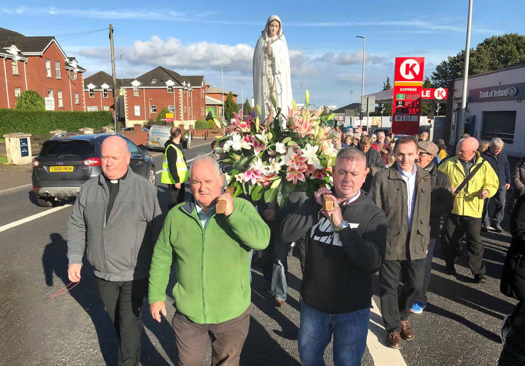 The Annual Legion of Mary Rosary procession made its way along the Falls and Andersonstown roads from St John's to St Michael's on Sunday