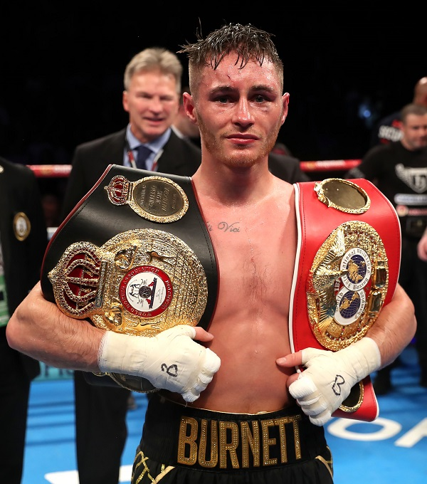 Ryan Burnett pictured after his win over Zhanat Zhakiyanov in November 2017 when he became unified IBF and WBA world bantamweight champion Photo by William Cherry/Inpho