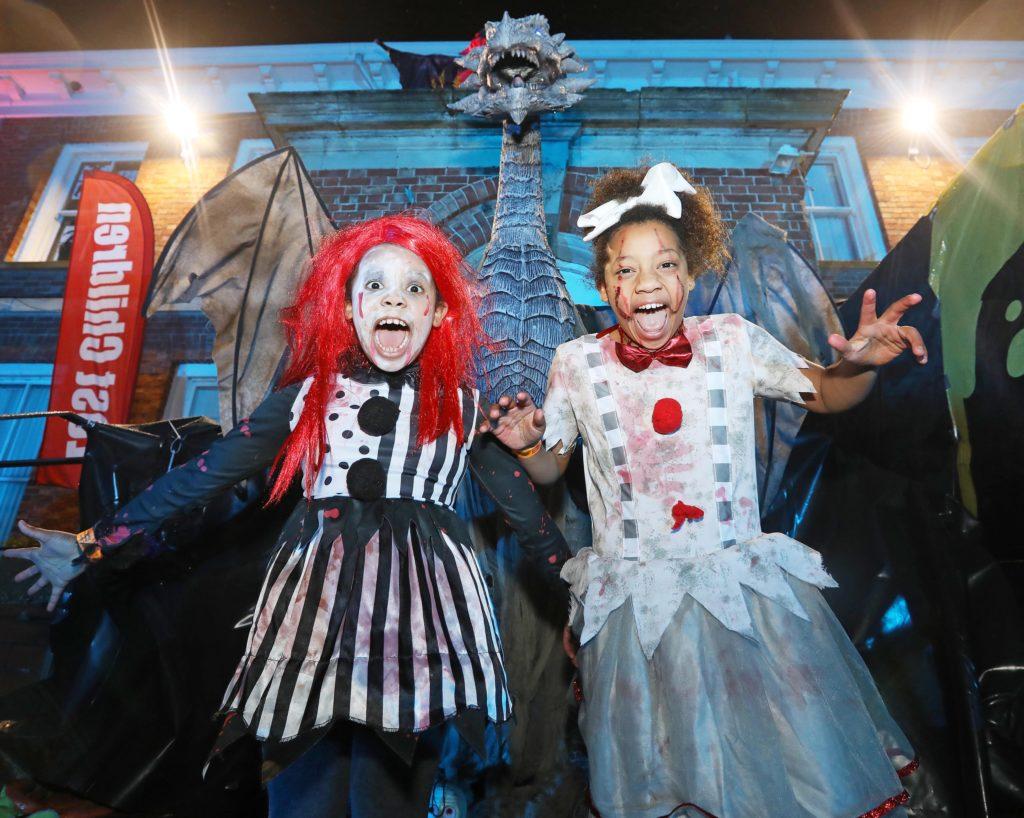 Grace and Eva Bobola at the Colin Halloween Parade and Family Fright Night