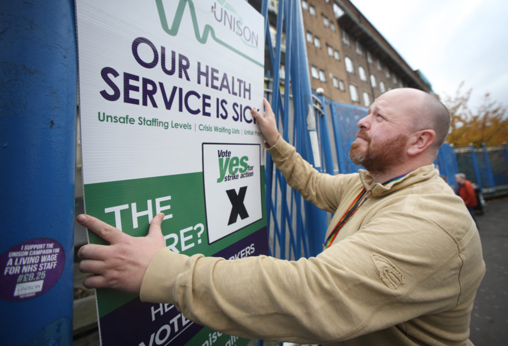 Conor McCarthy of Unison at the RVH