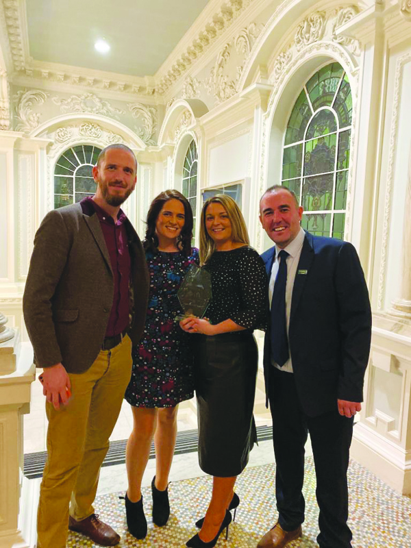 Representatives from St Malachy's OB Youth collecting their IFA Grassroots 'Club of the Year' award at City Hall last week