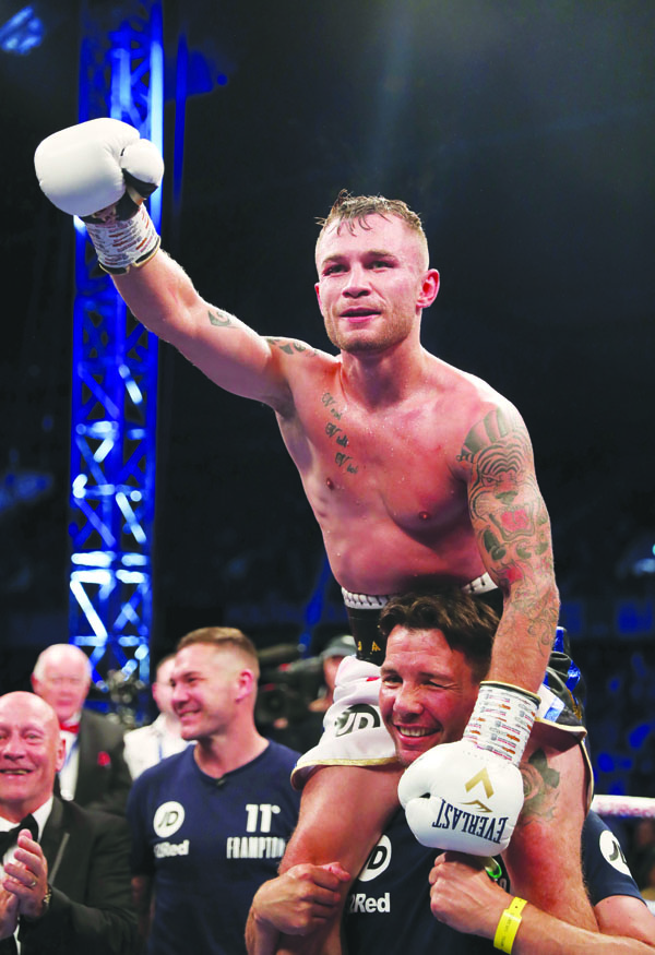 Carl Frampton will be aiming to get back to winning ways against Tyler McCreary on Saturday having been out of the ring since last December's defeat to Josh Warrington in Manchester