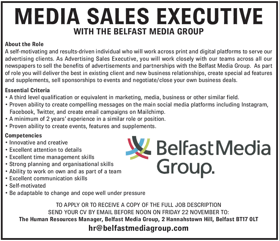 Media Sales Executive Job Description