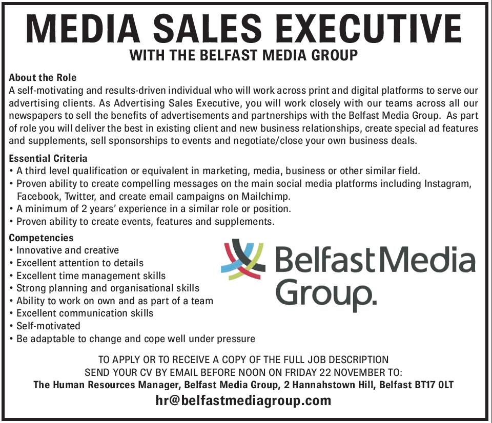 Media Sales Executive Job Description