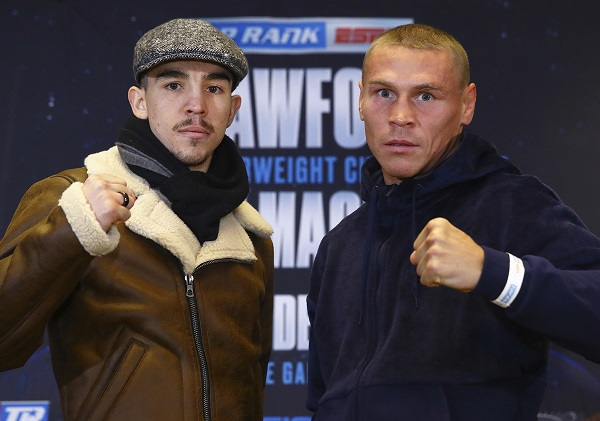 Michael Conlan and Vladimir Nikitin at Wednesday's press conference
