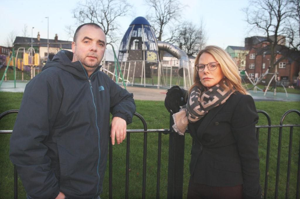 Tina Black and Vincent McElkerney at Dunville Park
