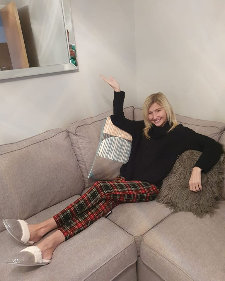 CHILLED: Nicole Adams intends to eat, sleep, relax – and repeat