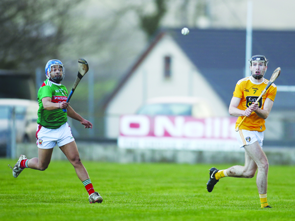 Rossa's Aodhan O'Brien was one of several newcomers who Antrim manager Darren Gleeson commended after Sunday's win over Mayo