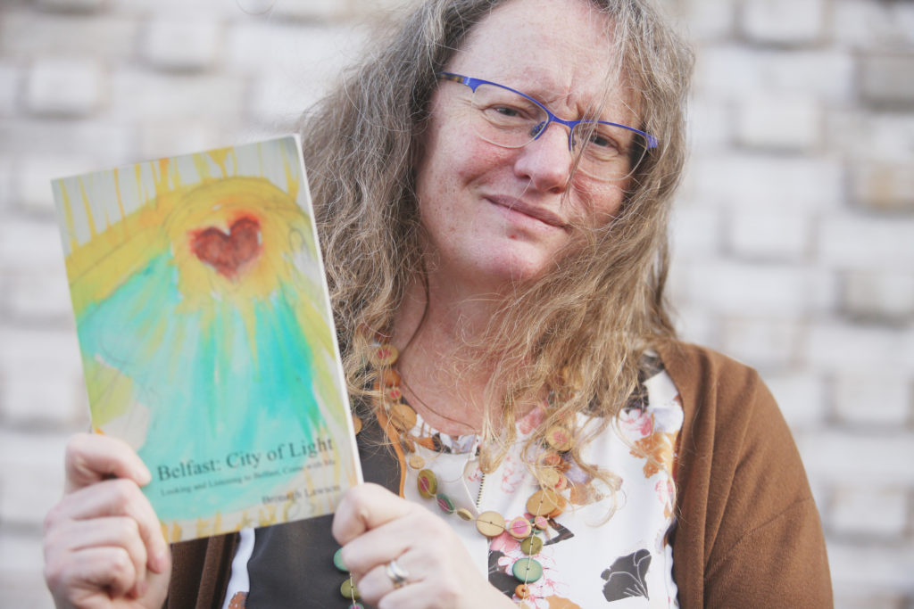 ENDEAVOUR: Artist Bronagh Lawson with her book on Belfast churches