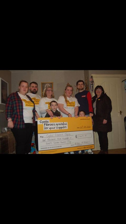 The family of Danielle McFall raised over £1,500 for the Cystic Fibrosis Trust