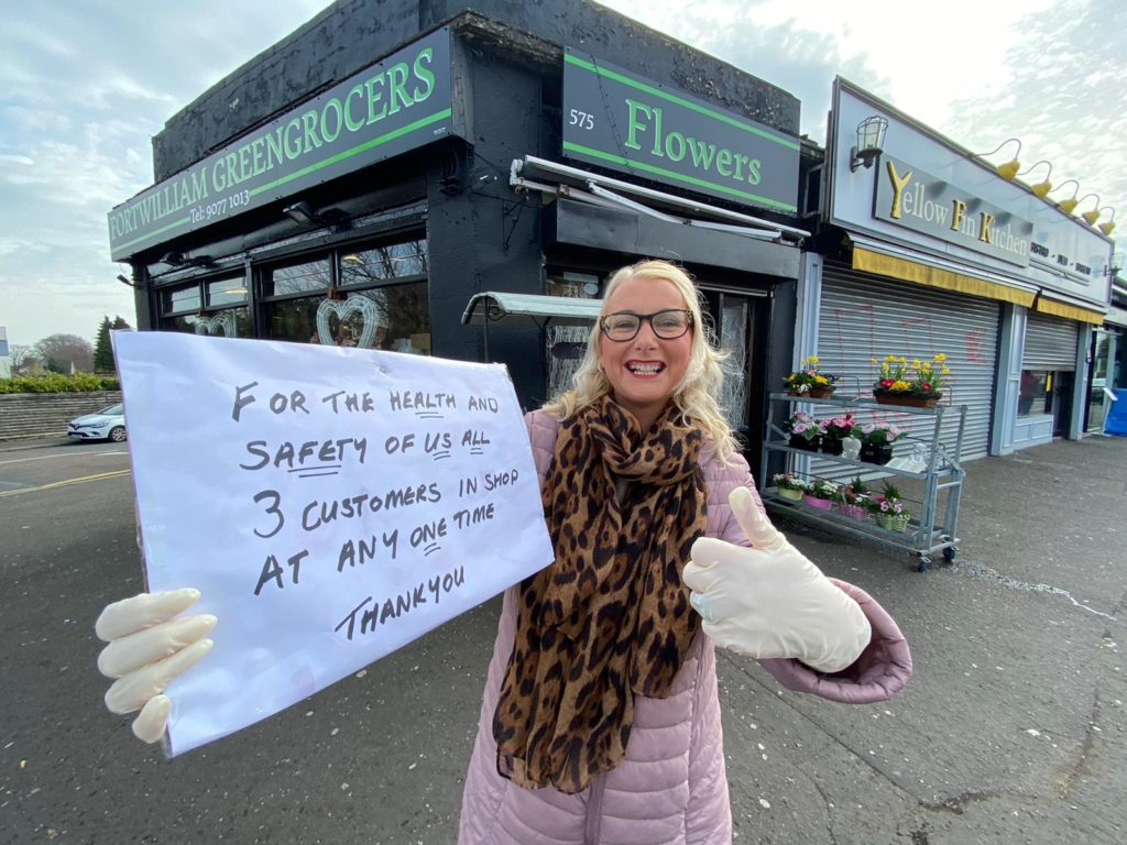 A woman who certainly knows her onions: Francine O'Hare of Fortwilliam Greengrocers