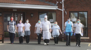 LET'S GO TO WORK: Staff at Brooklands Care Home go above and beyond to protect residents who would be in extreme peril if they contract Covid-19[/caption]